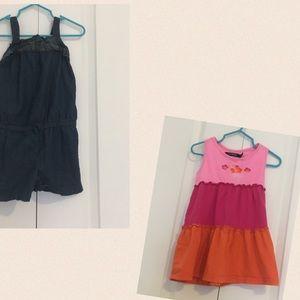 🔥BOGO🔥 Girls dress and romper 3T